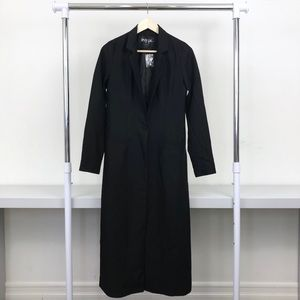 NWOT Nasty Gal Black Long Winter Trench Coat
